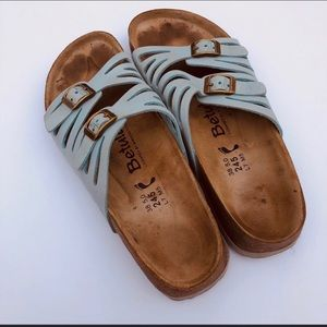 Birkenstock light blue two strap sandals sz 7